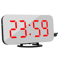 Creative Alarm Clock LED Display Electronic Snooze Digital Backlight Mute Mirror