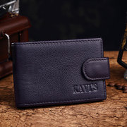 Men And Women Bifold 11 Card Slot Short Wallet Genuine Leather Card Holder Wallet
