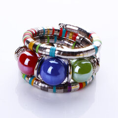 Bohemian Colorful Big Beaded Multilayer Womens Bracelets Vintage Jewelry for Women