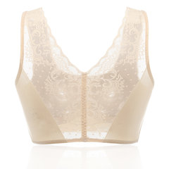Plus Größe Lace Back Nahtlose Ice Silk Wireless Crop Bras