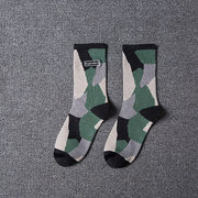 Men Breathable Camouflage Cotton Middle Tube Socks Casual Street Sports Socks