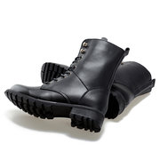 Classic Leather Thick Sole Motorcycle Boots