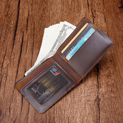 Genuine Leather Personalized Wallet Card Holder For Men