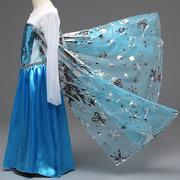 Девушки принцессы Cosplay Костюмы Платья Дети Девушки Хэллоуин платье для вечеринки Elsa