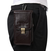 Men Genuine Leather Outdoor Casual Vintage Multi-function Waist Bag