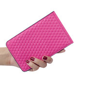 Women PU Bright Square Wallet Multi-Card Slots Hasp Card Wallet Bag