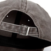 Men Women Washed Denim Fitted Baseball Cap Solid Polo Style Sports Visors Hat
