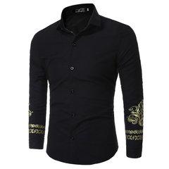 Camisas de diseñador de moda de estilo británico para hombres