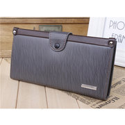 Men Retro Business Casual Long Wallet Card Holders Purse