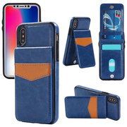 Business Phone Case For iPhone Three Card Slots Tpu Card Holder