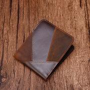 Couro Genuíno Suporte de cartão de carteira personalizada para homens