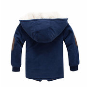 Soft Fleece Boys Winter Thick Jacket Kids Warm Coat For 4Y-15Y