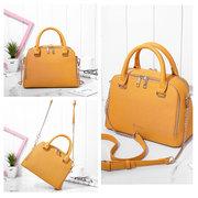 Women Two Layer Shell Chain Crossbody Bag Multifunction Solid Handbag