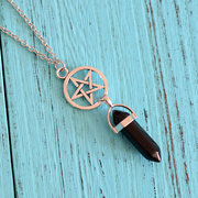 Fashion Colorful Natural Stone Womens Necklaces Lotus Yoga Fairy Charm Necklaces for Women