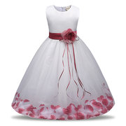Flower Petal Girl Party Pageant Dress Wedding Girls Dress for 0-10 Years