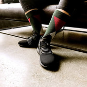 Men's Funny Socks Cotton Paragraph Stripe Geometric Middle Tube Socks