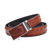 Men's Business Crocodile Grain Automatic Buckle PU Belt