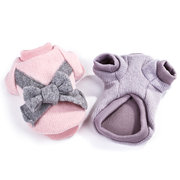 Butterfly Bowknot Fabric Knit Pet Dog Cat Sweater Warm Pet Clothes for Autumn Winter