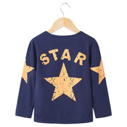 Star Printed Boys Long Sleeve Tops Shirt For 2Y-9Y