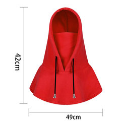 Women Men Warm Face Mask Cap With Earmuffs Hooded Scarf Windproof Neck Warmer Cap With Neck Flap