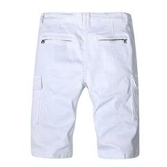 Elegante tasca piega con cerniera bianca corta Jeans per uomo