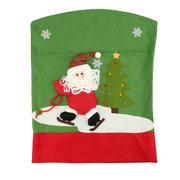 Dinner Table Santa Snowman Home Decoration Ornaments Gift Christmas Chair Covers