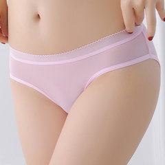 See Through Solid Color Elastic Sexy Lingerie Panty