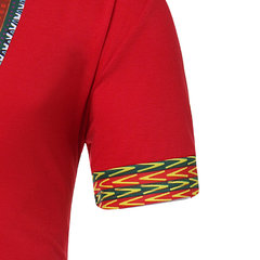 Mens African Ethnic Stylish Embroidered Printing Casual Summer T Shirts