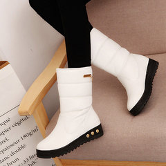 Slip On Mid Calf Wedges Stivali da neve caldi