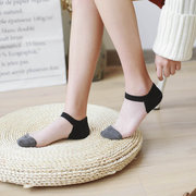 Women Summer Transparent Ankle Socks Stretch Crystal Glass Silk Sock Calcetines Mujer