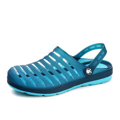 Men Hollow Out Soft Breathable Beach Slippers Waterproof Garden Sandals