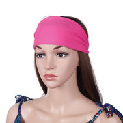 Womens Head Scarf Bicycle Hat Fitness Yoga Multi-function Sweat Bands Sports Hair Band