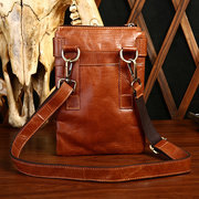 Genuine Leather Vintage Shoulder Bag Coffee Black Brown Crossbody Bags
