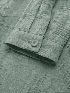 Жаккардовые блузки с длинными рукавами