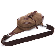 Men Canvas Portable Chest Bag Shoulder Bags Casual Crossbody Bags