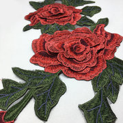 Peony Fabric Sticker Craft Sewing Applique Vêtements Embroidery Patch