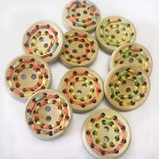 100Pcs 20mm Round Wooden Buttons Knitting Sewing DIY Materials