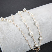 Bohemian Multi-layer Anklets Metal Pearl With Toe Chain Anklet For Women