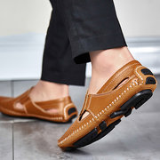 Men Breathable Hollow Out Stitching Loafers Low-top Slip On Casual Shoes