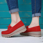 Plus Size Women Moccasins Suede Tassel Flat Platform Sneakers Shoes