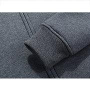Мужские зимние теплые толстые тепловые толстовки с твердым цветом Zip Up Casual Jacket Sweatshirt
