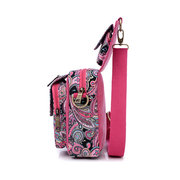 Casual Canvas Nylon Flower Pattern Folding Shoulder Bags Crossbody Chest Bags For Women