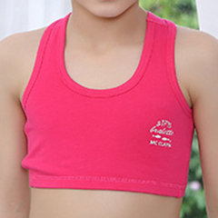 MC CLAYN Girls Soft Comfy Cotton Wireless Non-padded Swimwear Sport Breathable Vest Bras