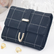 Stylish Women Candy Color Small Wallet Short Purse For Women