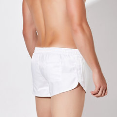 Men Smooth Faux Silk Arrow Pants Quick Dry Shorts Drawstring Solid Color Underwear Boxer Briefs