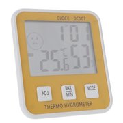 Large Digital LCD Indoor Temperature Humidity Meter Thermometer Hygrometer Clock