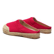 Flax Old Peking Color Match Backless Loafers