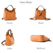 Tote Faux Leather Handbags Vintage Multifunction Backpack Shoulder Bags