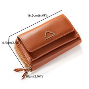 Stylish Pure Color Long Wallet Card Holder Purse For Women