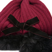 Paar Modelle Outdoor Warme Strickmütze Hut Einfarbig Tapered Wool Cap